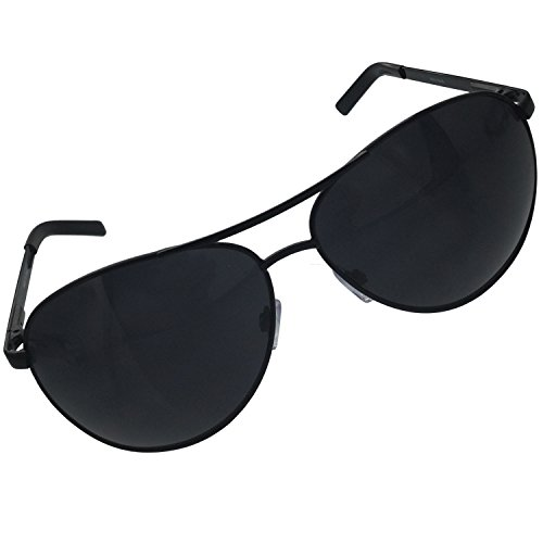 grinderPUNCH XL Extra Large All Black Aviator Sunglasses 62mm Dark - Sunglasses Xl Aviator