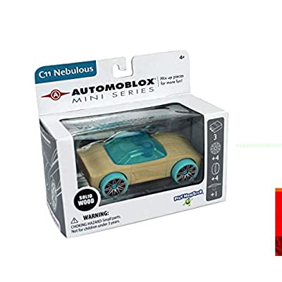 Automoblox Collectible Wood Toy Cars and Trucks—Mini C11 Nebulous (Compatible with other Mini and Micro Series Vehicles): Toys & Games