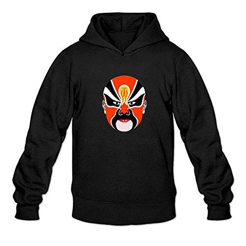 Mcczox Chinese drama mask logo fashion Men's Hoodie Sweatshirt (Donald Duck Halloween Mask)