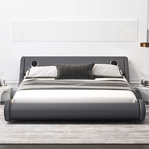 Amolife Modern Upholstered Bed Frame