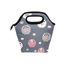Saobao - Bolsa de almuerzo con diseño de oveja de acuarela para llevar en el almuerzo, ideal para llevar en la escuela, en la oficina, en viajes al aire última intervensión