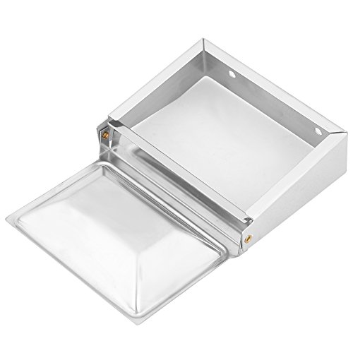 FTVOGUE Stainless Steel Soap Dish Holder Cigar Ashtray Wall Mounted Bathroom Storage - Tray Ash Wall
