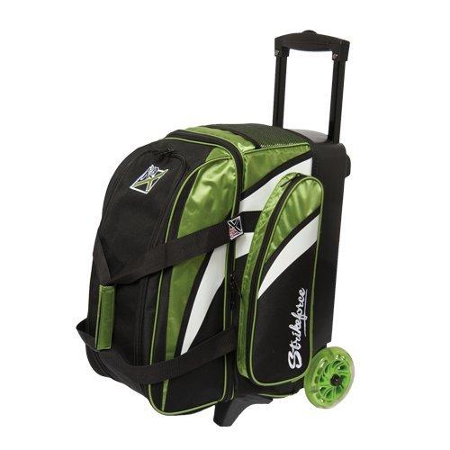 KR Strikeforce Cruiser Smooth Double Roller Bag, Lime/White/Black
