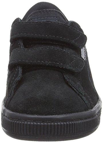 Ps Straps Noir Silver Puma 52 Mixte Black puma Enfant Suede Sneakers 2 puma Basses wqqtCf