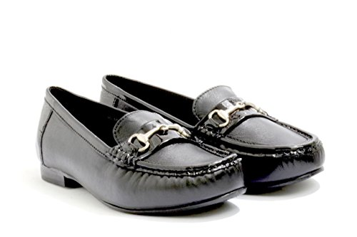 Patent Women's 8 Ladies and Easy EASYB 4E With and Black Black Diana Patent Red Detail Trim widefitting UK Black Loafer In Leather a b Extra and EE In DB UwExSnTqdS