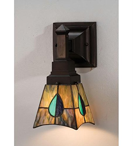 - Mackintosh Leaf 1 Light Wall Sconce