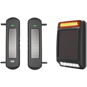 HTZSAFE 1/2 Mile Long Range Wireless Driveway Alarm Solar Wireless Weatherproof Sensor & Detector Perimeter Alarm Security Alert System (DIY Alarm System for Home and Business Security)