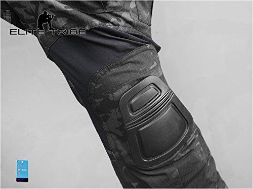 Homme Tenues de Combat Pantalon Militaire Gen3 Pantalons de Tactique et Genouillères Multicam Black 7