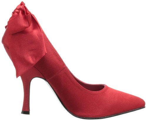Pinup Couture High Heels Bombshell-03 Schwarz Red Satin