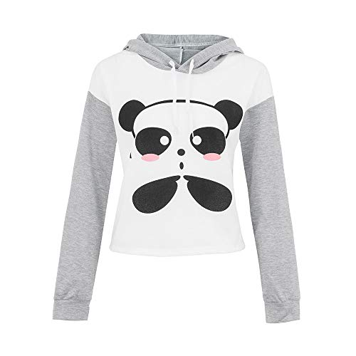 eeve Cartoon Panda Printing Caps Sweatshirt Girl Blouse Tops ()