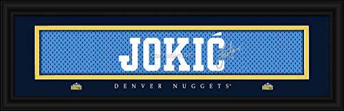 Prints Charming Denver Nuggets Jokic Framed Posters 22x6 ()