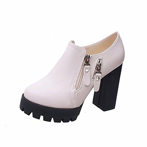 de Zapatos 5 Impermeable Metal Tacón Los Zapatos de Nocturno Gruesos pulir de Club con EUR Del 35 Los Tabla Alto un RwYqxXfnY