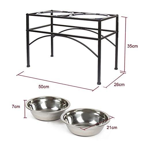 Funkeen Elevated Dog Bowls Raised Pet Feeder Cat Food