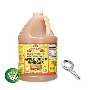 Amazon.com : Bragg Apple Cider Vinegar, 128 oz/ 1 gallon