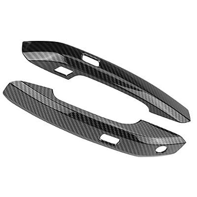 Cuque 4Pcs ABS Carbon Fiber Car Side Door Handle Frame Cover Trim Car Exterior Door Handle Decal Trims for Audi Q5 (FY) 2020: Automotive