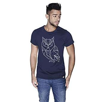 Creo Owl Animal T-Shirt For Men - S, Navy