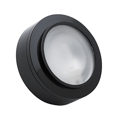 Alico Industries MZ401-5-31 Zee-Puk Collection 1-Light 12V Puck Light, Black Finish with Frosted Lens