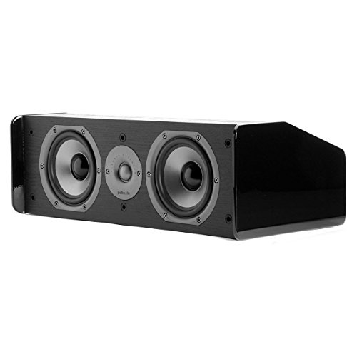 Polk Audio CS10 Center Channel Speaker (Single, Black) by Polk Audio