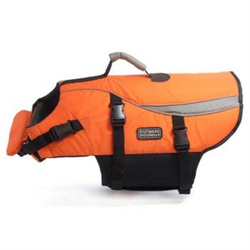 Kyjen Outward Hound Life Jacket, Large, Orange, My Pet Supplies