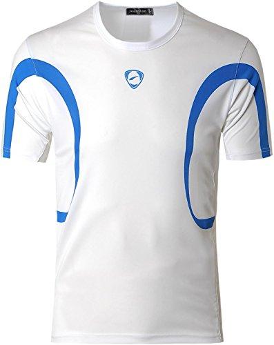 white Jeansian Sportivo T Casuale Asciugatura Rapida Uomo Slim Sports Lsl020 shirts Lsl161 Fashion Camicie Tee rtqR6rwZx