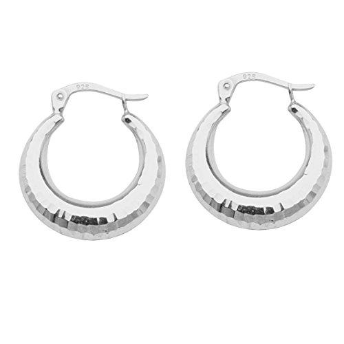 Oval Hoop Earrings Artform Designer Collection Sterling Silver Nontarnish