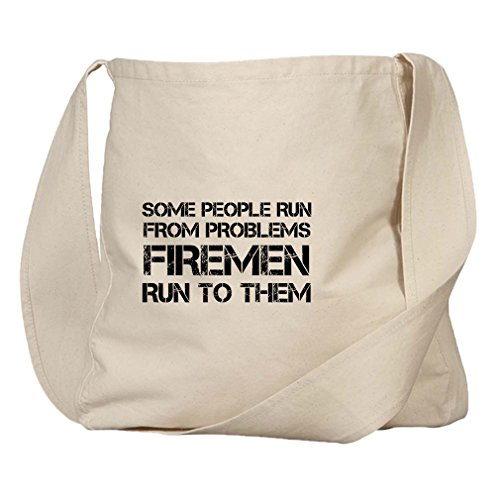 Some People Run Firemen Run To Them Organic Cotton Canvas Market Bag - Forget Some People You Never