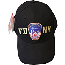 FDNY Baseball Hat Police Badge Fire Department Of New York City Black & Gold ...