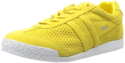 Gola Women's Harrier Squared Fashion Sneaker, Yellow, 8 M US