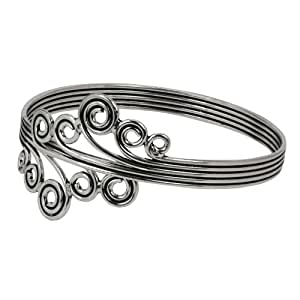 brazalete de plata joyería india brazo pulsera