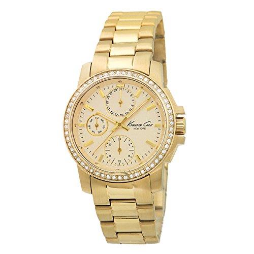 Kenneth Cole New York Women's KC4834 Dress Sport Triple Gold Chronograph Watch