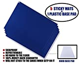 Cleanroom Sticky Mats with Base Pad, Include 5