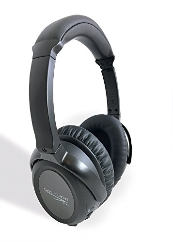 Sale! Solitude WX1 Wireless Active Noise Cancelling Headphones w/Microphone, World's 1st Wireless to use Dual-Drivers, Over-Ear, 30 hrs Play time, hi-Performance, Foldable, Hard case, Work, (Hi Performance Battery Door)