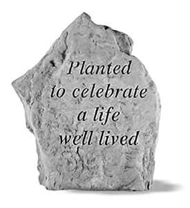 Planted In Memory Of Mother Memorial Stone Marker Outdoor Plaques Garden Outdoor