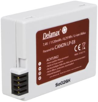 Delamax Li Ion Akku Für Canon Eos 550d 600d Kamera