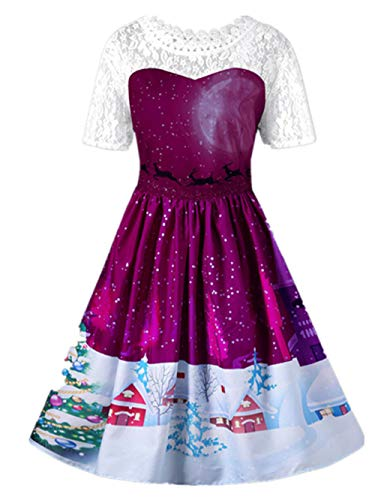 Courtes Dentelle Tops Merry Angelof Violet Soiree Femme Mariage Christmas Chic Robe Longue Manches Couture Guipure Hiver EaHwXAxXqU