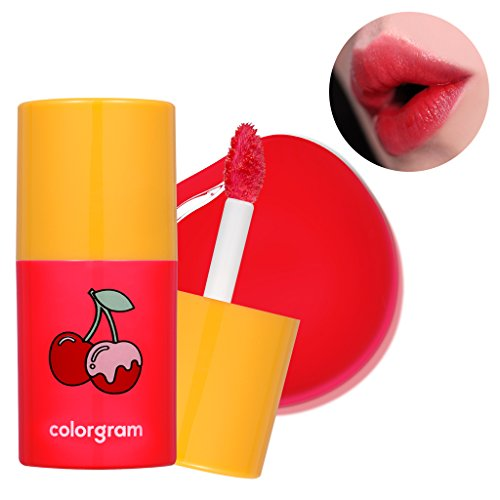 [COLORGRAM] Oil Pop Tint 4.5g - Glossy Lip, Natural Vivid Color(No1 Cherry Pop)