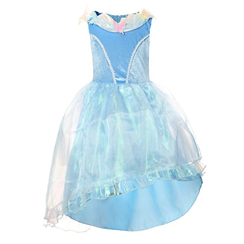 Haytijoe Flower Fairy Girl Princess Dressing Up Dresses For Party Ball Birthday(8-9years, (Kids Dressing Up Clothes)