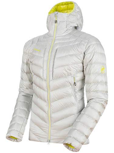 Mammut 1013-00260 Men's Broad Peak in Hooded Jacket, Marble/Canary - ()