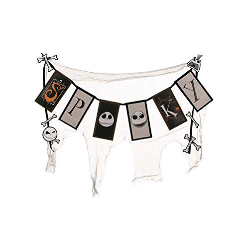 Disney The Nightmare Before Christmas Spooky Cheesecloth Banner -