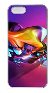 3D Colorful Abstract Colorful Effect Polycarbonate Plastic Hard Case for iPhone 6 4.7 and iPhone 6 4.7 Transparent