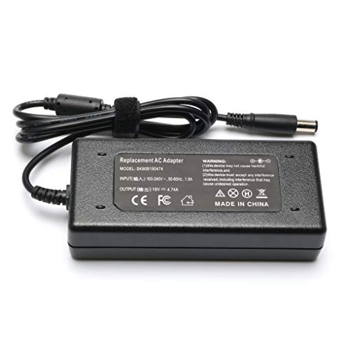 Novelty 19V 4.74A 90W Laptop Charger AC/DC Adapter for HP Pavilion G4 G6 G7 M6 DM4 DV4 DV5 DV6 DV7 G60 G61 G72 CQ40; EliteBook 2540p 2560p 2570p 2730p 2740p Power Supply Cord