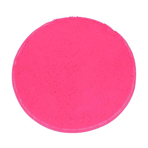 Elevin(TM)  Soft Bath Bedroom Floor Shower Round Mat Rug Non-Slip Hot Pink