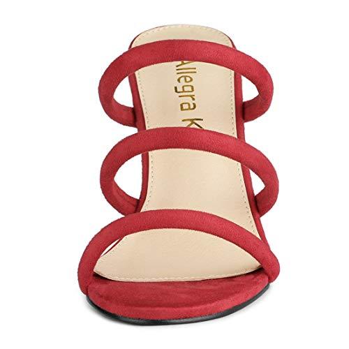 a Slip donna Tacco K Allegra per rosso Open spillo Block sandali Ciabatte qAWXH