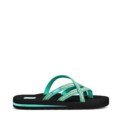 Teva Women's Olowahu Flip-Flop - 11 B(M) US - Pintado Florida Keys (Green Flip Flops)