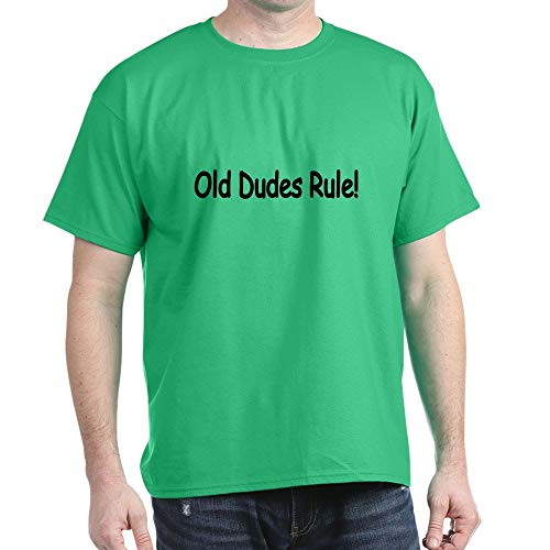 CafePress Old Dudes Rule! T Shirt 100% Cotton T-Shirt Kelly Green (Old Dudes Rule T Shirt)
