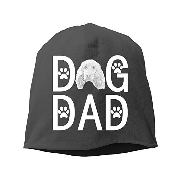 HENNANMIMI English Cocker Spaniel Dog Dad Unisex Beanies Cap Hedging Cap Skull Hat Autumn/Winter Cap 1