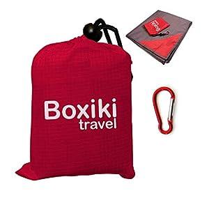 Boxiki Travel Coperta Tascabile da Spiaggia Compatta Impermeabile Pieghevole E Leggera con Custodia Rossa. Coperta per… 1 spesavip