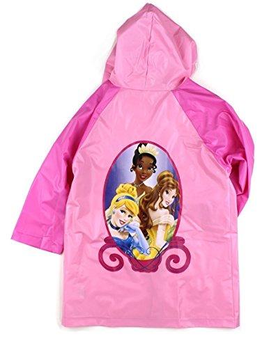 Disney Princess Girls Pink Rain Poncho Raincoat -