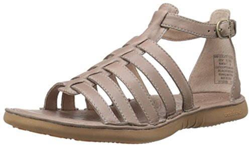 Bogs Women's Amma Gladiator Leather Sandal, Taupe, 9 M - Amma Brown