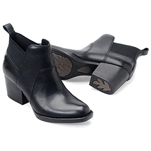 B.O.C Womens Garcia Leather Closed Toe Ankle Chelsea Boots, Black, Size 7.5